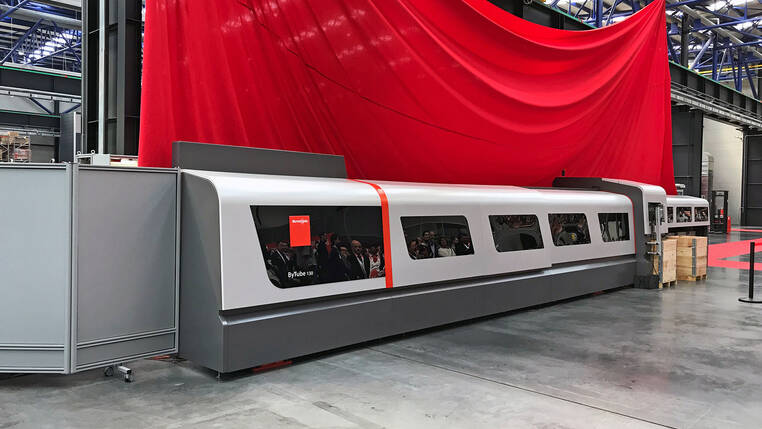 World premiere: the new tube laser cutting system, ByTube 130, will come on the market in the near future.